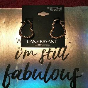 NWT Lane Bryant Textured Heart Earrings